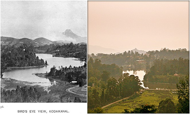 Upper Lake View (R) Back in 1910 (L) The current view