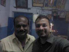 With the owner Mr. Vaithi — at Parthasarathy vilas.