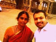 With Ambuja Maami of the Araiyar family, descendants of Naadhamunigal