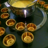 Poori Paayasam made with Rava Pooris