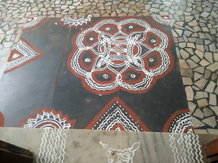Traditional Kolams at the venue