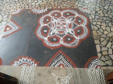 Traditional Kolams at the venue