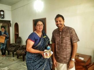With Mrs. Usha Krishna