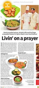 Pilgrim's Palate featured in The New Indian Express's Indulge