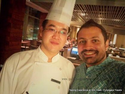 With Chef. Wei, Chef De Partie at Stix Hyatt