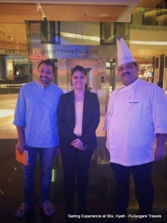 With Executive Chef. Vikram Ganpule and Parijat Gupta