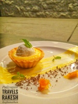 My personal favourite that won hands down - Sour lime mango tart, basil ice cream, chocolate soil and mango leather