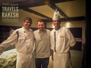 With Deepak Shirur, Executive Chef, Vivanta by Taj-Madikeri,Coorg and Chef. Raja, Junior Sous Chef