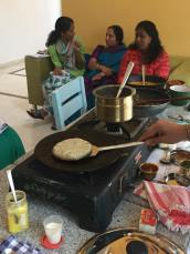Azhagar Kovil dosai being made