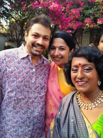 With friends Sher Jon and Rathi Nilakantan