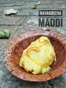 Hayagreeva Maddi - A sweet offered to the deities of Sri Sode Vadi Raja Mutt, Udupi