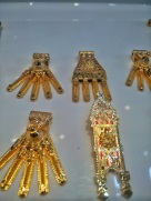 Traditional chettiar thali (mangal sutra) at a jewellery store