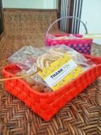 Take home gifts. Chettinad Kottans and Chettinad snacks :)