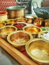 Heirloom brassware used to store spices