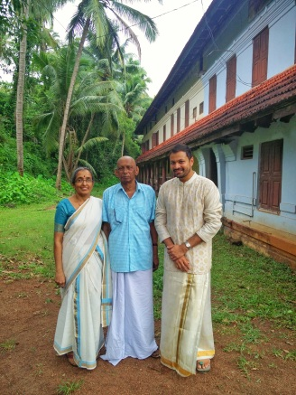 With Smt. Sreedevi & Sri. Damodaran Olappamanna