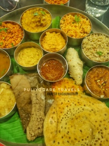 That was the thali I had worked on - Vaangi Bhaat, Mavinkai chitrannam (mango rice), Ellorai (sesame rice), Kadamba Saadam, Vendhaya Oothappam, Kanchipuram Idly, Saamai Pidi Kozhakattai, Thavalai Vadai, Peanut Chutney, Peerkangaai Thogayal, Ksheera & Hayagreeva Maddi (for desert)