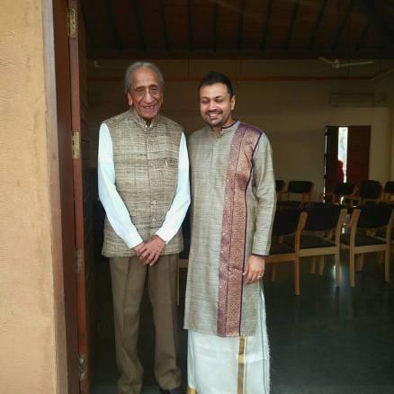 With Shri. O.P. Jain, the founder of Sanskriti Museum